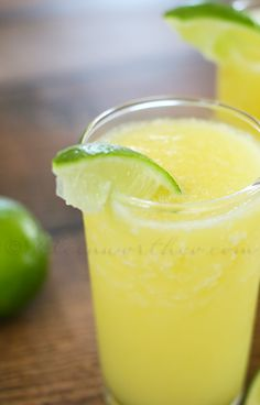 Pineapple Sparkler..with fresh pineapple, lime juice, cream of coconut and coconut sparkling water...