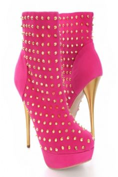 Hot Pink - another pair of boots to include as I do love the studs!!