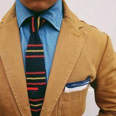 Colorful menswear.