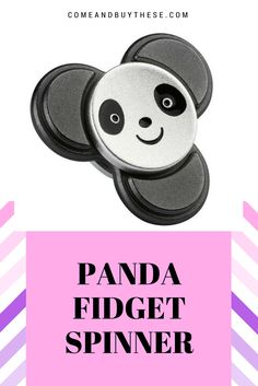 Do you guys have a fidget spinner in your house? It's quite a trend recently to play this fidget spinner, whether at home or in school.  Get a cute panda fidget spinner for your loved ones or your kids! They may get addicted though.