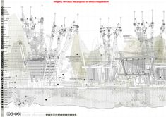 Rafael García-Monge Pozo | FloatARTmarket 2014 EPS San Pablo CEU #DTF08 #infografias #infographi Architecture Panel, Architecture Graphics, Concept Architecture, Architecture Drawings, Section Drawing, Line Drawing, Perspective Images, Presentation Styles, Plan Sketch