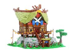 https://flic.kr/p/VWJjsp | Impa's House | Zelda - Breath of the Wild  After stumbling over the concept art of Impa's House from the game, it inspired me to build this Lego rendition.  It took me a month and ended up with a 10000 pieces creation with the dimensions: 67x45x45cm  The house has a full  interior and is built as close to the model in the game as possible.  While building I made a lot of work-in-progress pictures that I shared on my Instagram page.  The model will be displayed at…