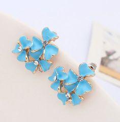 Blue Flowers Fashion Earrings | LilyFair Jewelry, $10.99!