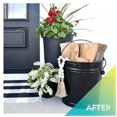 What vibe are you going for on your front porch? If you're going for the #farmhouse look, like The Fancy Farmgirls, matte black decor is key 🗝️ Get it? Porch? Door? Key? Okay, sorry. It's hot out. #DoItOutsideDIY #FrontStepItUp  . #RustoleumCAN #FarmhouseDecor #FarmhouseStyle #DIY #DIYer #DIYProject #FrontPorch #FrontPorchDecor #FrontPorchProject #Porch #PorchDecor Primer Spray Paint, Spray Paint Cans, Black Spray Paint, Farmhouse Homes, Farmhouse Style, Farmhouse Decor, Enamel Paint, Diy Décoration