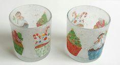 Christmas,  Serviettentechnik,  Viva Decor Kristall-Gel hologramm, Teelicht,  Deko