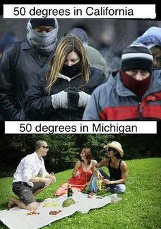Ahh yes if only it was 50 degrees haha