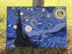 Starry Night Nail and String Art #LibertyNailArt