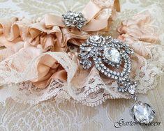 Braut Strumpfband set Blush Hochzeit Strumpfband von GarterQueen