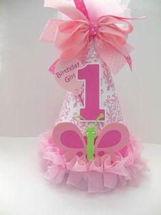 Pink Damask  Butterfly  Cupcake Birthday by SandysSpecialtyShop,