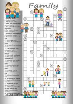Crossword: Family #worksheet #ppt #exercises #ejercicios #practicaringlés #aprenderingles #parentsenglishclub #experienciaspositivas
