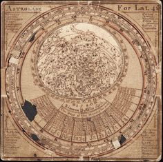 This is the oldest surviving Anglo-American star map, made in 1780 by Simeon De Witt.