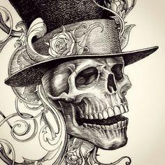 Hand Pencil Drawing, Pencil Art Drawings, Art Drawings Sketches, Mermaid Coloring Pages, Bone Tattoos, Skull Pictures, The Grim, Grim Reaper, Skull Art