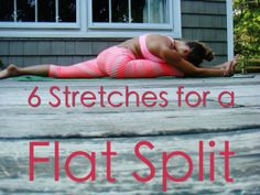 Front Splits….gorgeous on the ground and in the air; just how do you train  to get a consistently flat split? Let's look at some effective stretches  you can do at home to train. It is a big misconception that having a flat  split is just about stretching your hamstrings…WRONG. You must train your  hip flexors as well.  In order to INCREASE your flexibility you should be stretching for 30-60  minutes 5 times per week. (Yes, it's called dedication. J But it pays off,  trust me.) In order to…