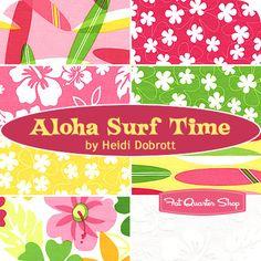 Aloha Surf Time Fat Quarter Bundle Heidi Dobrott for Robert Kaufman Fabrics - Fat Quarter Shop
