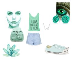 """""""Green"""" by louiseloves-rain-3 on Polyvore featuring Topshop, Bling Jewelry, Converse and T-shirt & Jeans"""