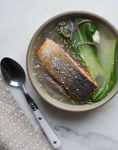 Crispy Salmon Soba Noodle Bowl - like the way of cooking the salmon, but not the dish, really