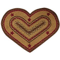 Cinnamon Star Heart Rug