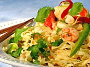 Thai Noodle Salad with Shrimp and Fresh Vegetables: a low-fat Delight!