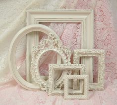 Shabby Chic Frames Picture Frame Set by MountainCoveAntiques