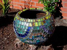 Mosaic Clay Pot detail image Pot1b.jpg