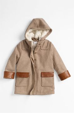 Chloé Hooded Wool Blend Coat (Little Girls & Big Girls) available at #Nordstrom
