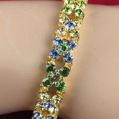 Estate Vintage Swarovski Crystals .925 Silver Tennis Link Bracelet BB015 | We combine shipping | No Question Refunds | Bid $60 for free shipping. Starting at $1