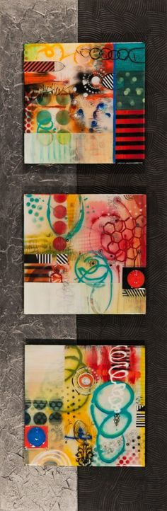 """Janet O'Neal, artist, """"Reflections"""", Mixed media with resin glaze on wood. Over mantle? Mixed Media Canvas, Mixed Media Art, Mix Media, Contemporary Abstract Art, Modern Art, Encaustic Art, Art Journal Inspiration, Art Plastique, Collage Art"""