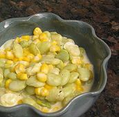 Succotash with Fresh Lima Beans