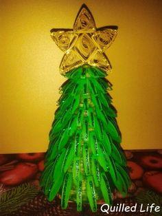 Quilled Life: Świąteczne drzewko, część druga #quilling #christmas #christmastree #decoration #xmasdecoration #diy