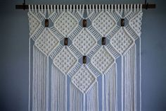 Macrame Wall Hanging Natural White Cotton Rope on от BermudaDream: