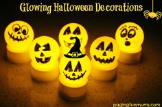 Ping Pong Ball Light Up Pumpkins :) ~Frisky Super quick and easy to make from dollar store battery tealights and ping pong balls , these are pumpkin ones I do mine that look like eyeballs LOL