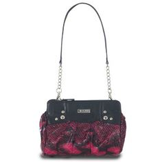 Petite size Miche shell...Vera.  Hot pink faux snake print iwht black accents and stud detailing.