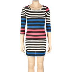 FULL TILT Stripe Body Con Girls Dress