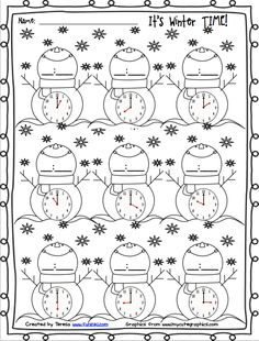 4 Math Worksheets Coloring Pages Winter Time √ Math Worksheets Coloring Pages . 4 Math Worksheets Coloring Pages . Adding Subtracting Fractions Worksheets in Math Worksheets Kindergarten Math Worksheets, In Kindergarten, Math Activities, Telling Time Activities, Fractions Worksheets, Teaching Time, Teaching Math, Second Grade Math, Math Measurement
