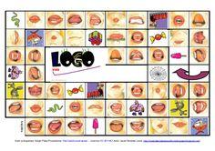 Juego de La Oca: Logopraxias