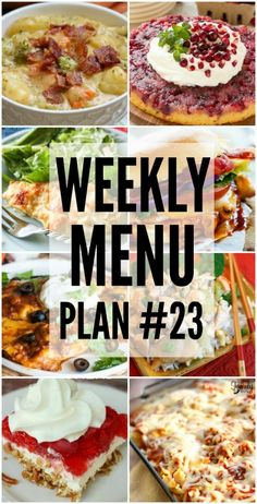 Weekly Menu Plan #23