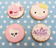 Galletas infantiles, peppa pig,violetta, moster high, kitty, cookies