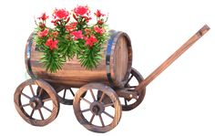 Quickway Imports Inc - Large Barrel Wagon Planter, $77.27 (http://www.quickwayimports.com/large-barrel-wagon-planter/)