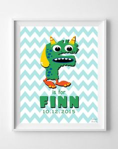 Initial 'F' Personalized Print