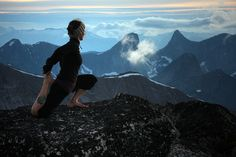 Alpine Yoga Session, on the summit of Guanaco Peak in the Coquihalla