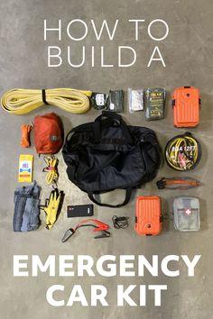 Emergency Bag, Emergency Preparedness Kit, Emergency Preparation, Emergency Supplies, Car Survival Kits, Survival Gear, Kit Cars, Car Kits, Car Essentials