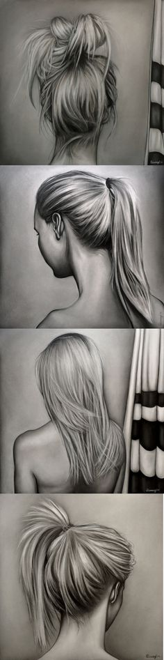 Drawing Hair Tips How to draw hair with pencil (drawing tips) Realistic Drawings, Cool Drawings, Drawing Sketches, Pencil Drawings, Drawing Tips, Drawing Ideas, Sketching, Drawings Of Hair, Sketch Ideas