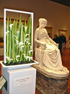 DSC00084 Bouquets to Art Calla Flax river stones marble statue by godutchbaby, via Flickr