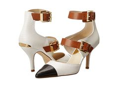 Sharpen up your look with the MICHAEL Michael Kors Adriana Color-block Heels $180, get it here: http://rstyle.me/~2TRJ6