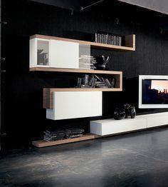 Fimar - italian furniture adjustable tv-racks tv stand modern living area design beds wardrobes with tv Tv Furniture, Italian Furniture, Modern Furniture, Furniture Design, Living Tv, Modern Living, Living Area, American Home Furniture, Wall Entertainment Center