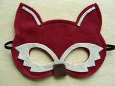 Child Fox Mask by Mahalo on Etsy, $10.00