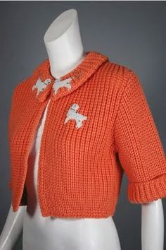 1950s cardigan--I am going to find a close crochet pattern for this-it is amazing!