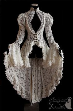 Waistcoat Victorian inspired ivory off white by SomniaRomantica