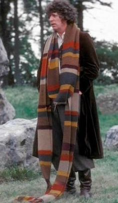 The amazing Tom Baker and his awesome scarf!