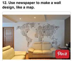 Newspaper map.